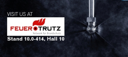AQUASYS presents firefighting with high-pressure water mist at Feuertrutz 2018